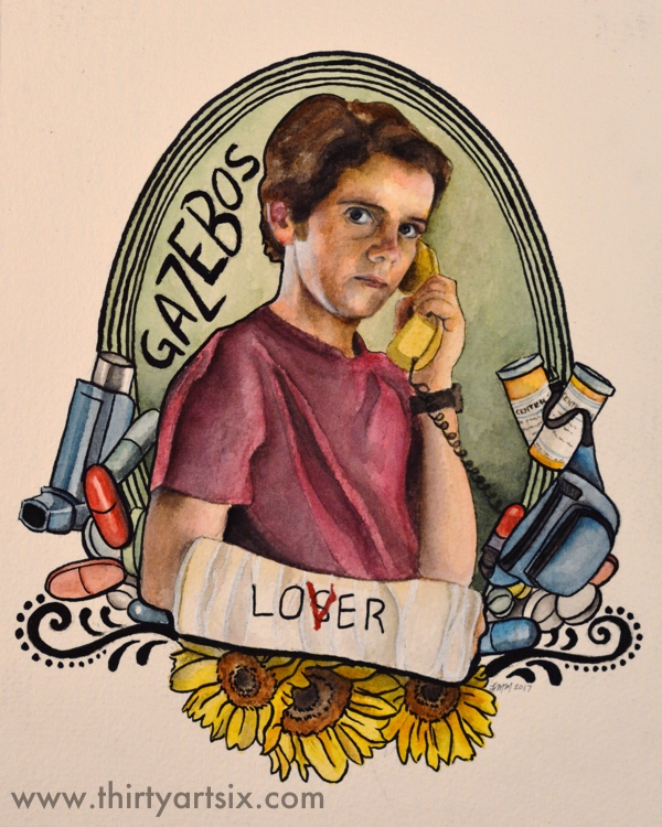 Eddie. Painting by Heather M Morris