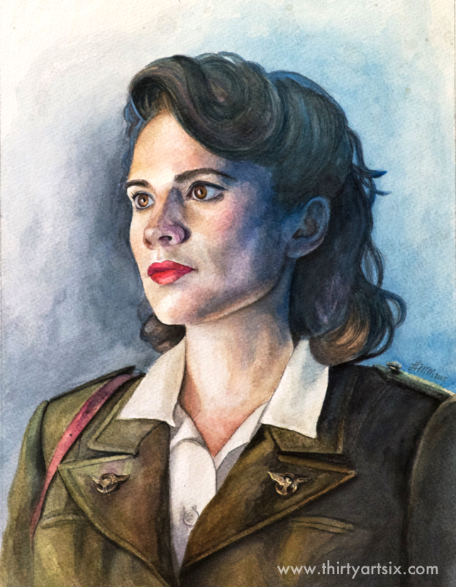 Agent Carter. Painting by Heather M Morris